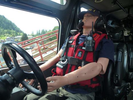 RCMSAR Station1 West Vancouver Howie at Helm